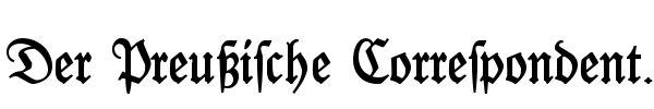 Der Preußische Correspondent
